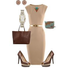 Work Chic Tan & Brown by lisa-eurica on Polyvore