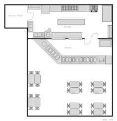 Restaurant Kitchen Layout Dimensions kitchen design bistro plan elevation - google search | studio 3.2