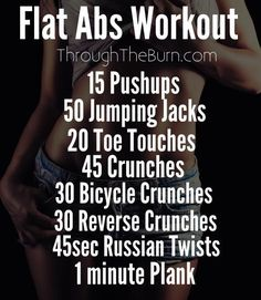 Another flat abs workout to get you motivated