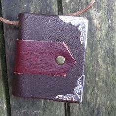 medieval style leather bound little journal by johnnythescavenger