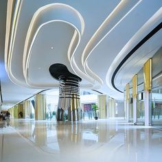 Stunning luxury interior design ideas from modern boutique hotels. Lobby, bedroom, stairways and entryways, a room by room guide to finding inspiration with the best interior architecture from world renowned hotels. Hotel Lobby Design, Mall Design, Retail Design, Luxury Decor, Luxury Interior Design, Interior Architecture, Shopping Mall Interior, Atrium Design, Lobby Interior