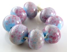 Lavender Dream  Handmade Artisan Lampwork Glass by lampworkbyamy, $28.00