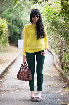 Madewell Sweater, Zara Jeans, Dooney & Bourke Satchel, Loafers