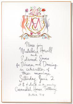 Invites by Happy Menocal via Vogue