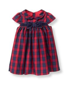 For the sweetest celebration, our plaid dress is detailed with velvet bands and… Toddler Girl Dresses, Little Girl Dresses, Girls Dresses, Little Girl Fashion, Kids Fashion, Baby Girl Thanksgiving Outfit, Versace, Cotton Frocks, Frocks For Girls