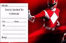 Resultado de imagen para invitaciones de los power rangers mystic force