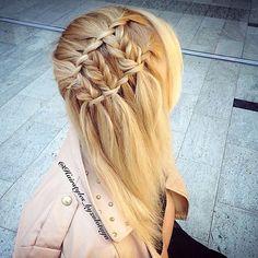 Waterfall twistxBraids via hair_by_zolotaya@instagram