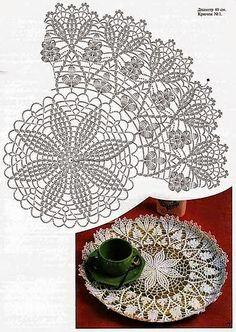 Bolero de diseño circular | Crochet y Dos agujas