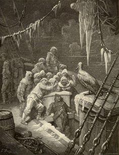 The Albatross. It ate the food it ne'er had eat. - Paul Gustave Dore - Plate 7 (Jonnard, Brunier, engraver)