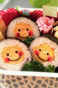 smile sushi roll bento