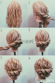 Best Of Cute Hochsteckfrisuren Mittellanges Haar Einfach Best Of Cute Updos Cabello medio largo Simple fino Hairdo Wedding, Wedding Hair And Makeup, Hair Makeup, Wedding Updo With Braid, Curly Hair Updo Wedding, Wedding Nails, Hair Dos For Wedding, Prom Hair Bun, Wedding Hair With Braid