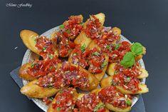 Bruschetta ~ Der italienische Klassiker Avocado, Romantic Dinners, Pizza, Shrimp, Grilling, Pulled Pork, Ethnic Recipes, Recipes, Beverages