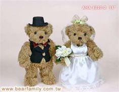 wedding teddy bears size 11 materials plush polyester ...