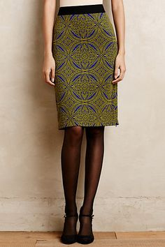Medallion Pencil Skirt  #anthropologie, Style No. 4120336417481