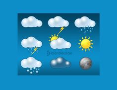 9 Vivid Weather Icons PSD - http://www.dawnbrushes.com/9-vivid-weather-icons-psd/