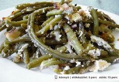 Tejfölös sült zöldbab