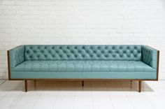www.roomservicestore.com - Koenig Sofa in Pale Blue Leather