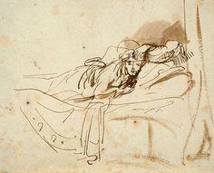 Rembrandt van Rijn- Saskia Lying in Bed
