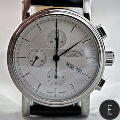 Mühle Glashütte Teutonia II Chronograph - This accessibly priced watch features a day-date display and stop-watch function, handsomely packaged in a stainless steel case and featuring a highly legible and elegant dial. Click on the picture above for more information...