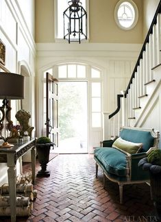 Looking for tips on hallway lighting or some inspiration on lighting up your staircase? Lantern Image, Hallway Lighting, Woodstock, Light Up, Oversized Mirror, Lanterns, Stairs, Decorating, Inspired