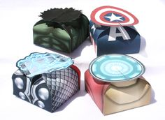 Avengers  Inspired Printable Gift Box Set Instant by Shnookers, $10.00