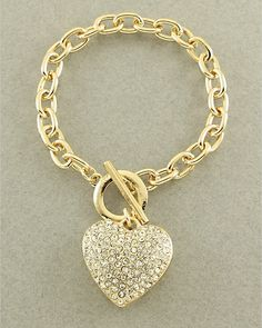 Gold Heart Bracelet from Picsity.com