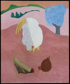 White Rooster (1947) by Milton Avery, Oil on Canvas, Metropolitan Museum of Art, New York