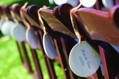 Summer Ceremony Ideas: Attach programs that double as fans to each seat — that way, you can ensure that no guest will be without a cooling device. Wedding Programs, Wedding Ceremony, Our Wedding, Fan Programs, Mexican Wedding Traditions, Mexican Weddings, Groom Outfit, Team Bride, Wedding Chairs