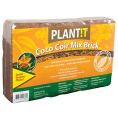 Edmund's Roses Coco Coir Mix Brick - Garden Product - National Garden Bureau - Coir is the organic, natural fiber derived from the husk of the coconut. Like tiny micro-sponges, it expands to hold up to 5 times its weight in water and has high air poro