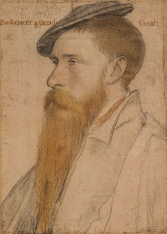 William Reskimer, drawing by Hans Holbein the Younger - List of portrait drawings by Hans Holbein the Younger - Wikipedia Trois Crayons, Hans Holbein Le Jeune, Hans Holbein The Younger, Renaissance Portraits, Renaissance Artists, Landsknecht, Montage Photo, Albrecht Durer, Gravure