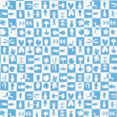 137702 Reflection | Blue from Water Land by Jessica Nielsen for Cloud9 Fabrics