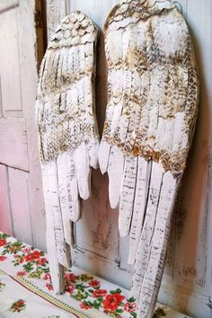 Large wooden wings