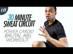 30 Min. Power Cardio Abs HIIT Core Workout | 30 Min. Sweat Circuit: Day 18 - YouTube