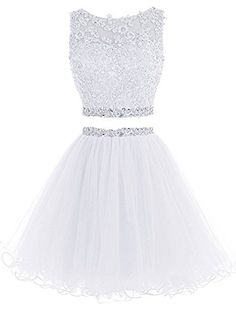 WiWiBridal 2017 Women's Two Piece Prom Dress Short Beading Homecoming Dresses For Juniors Dama Dresses, Cute Prom Dresses, Quince Dresses, Grad Dresses, 15 Dresses, Quinceanera Dresses, Pretty Dresses, Homecoming Dresses, Sexy Dresses