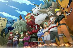 Whooaaaaaa this is awesome!  All the Tailed beast's and their Jinjuriki's from Naruto.
