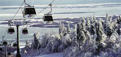 Mont Sainte-Anne #SommetsStLaurent #montsainteanne St Anne, Ski Vacation, Vacation Places, Mont Sainte Anne, Places To See, Places Ive Been, Charlevoix, Destinations, Quebec City
