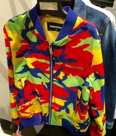 Primary camouflage from Dsquared2 for boys or girls spring 2016 kids fashion at Pitti Bimbo81