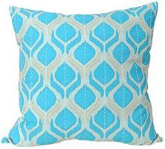 Flame Ikat Pillow