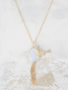 Altar'd State I Stand Before You Tear Drop Necklace