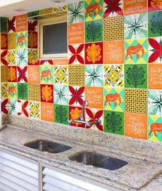 adesivo decorativo de parede: azulejo