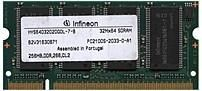 Infineon HYS64D32020GDL-7-B 256 MB SO-DIMM Memory Module - DDR SDRAM - 200-Pin PC-2100 - 266 MHz