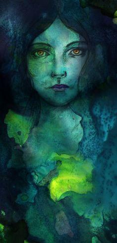 **Jade- watercolor, sketch & digital