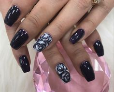 Black Rose by Pinky from Nail Art Gallery