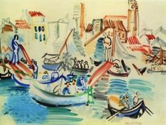 Collioure Harbor - Raoul Dufy, c. 1940