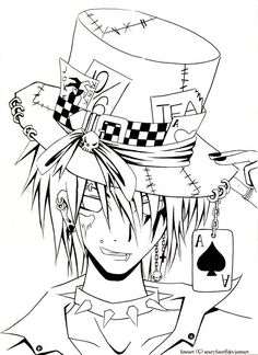 original mad hatter drawing - Google Search