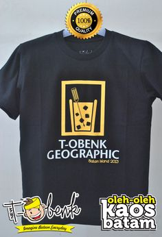 T-Obenk Geographic Portrait Hitam • Premium Quality • IDR 129000 • Official T-Shirt Merchandise from Batam City