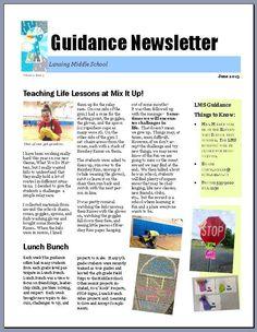 21 best school newsletters images on pinterest newsletter design
