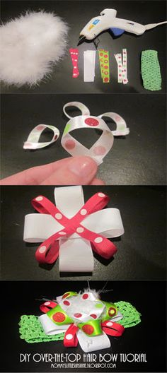 Over the top hair bow tutorial