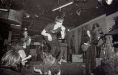 The Cramps at CBGB's Punk Magazine Benefit gig, photo Roberta Bayley, May 1977 via