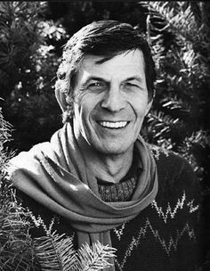 Leonard Nimoy with scarf